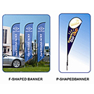 tear drop banner - tear drop flag - A1 Apparel