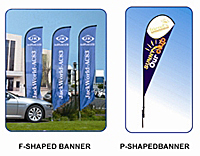 tear drop flags - outdoor display banners